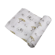 Rhino and Elephant Organic Muslin Swaddle for your Baby